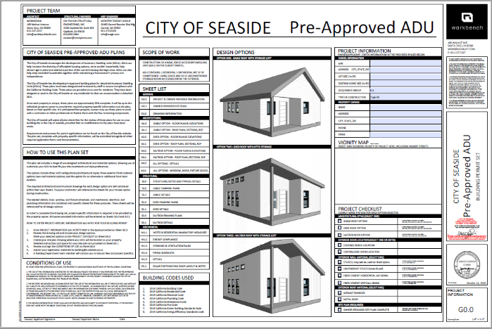 Pre-Approved ADU Plans 1st page image