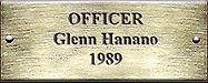 Officer Glenn Hanano 1989