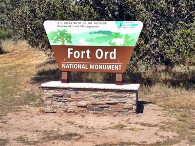 Fort Ord National Monument Sign