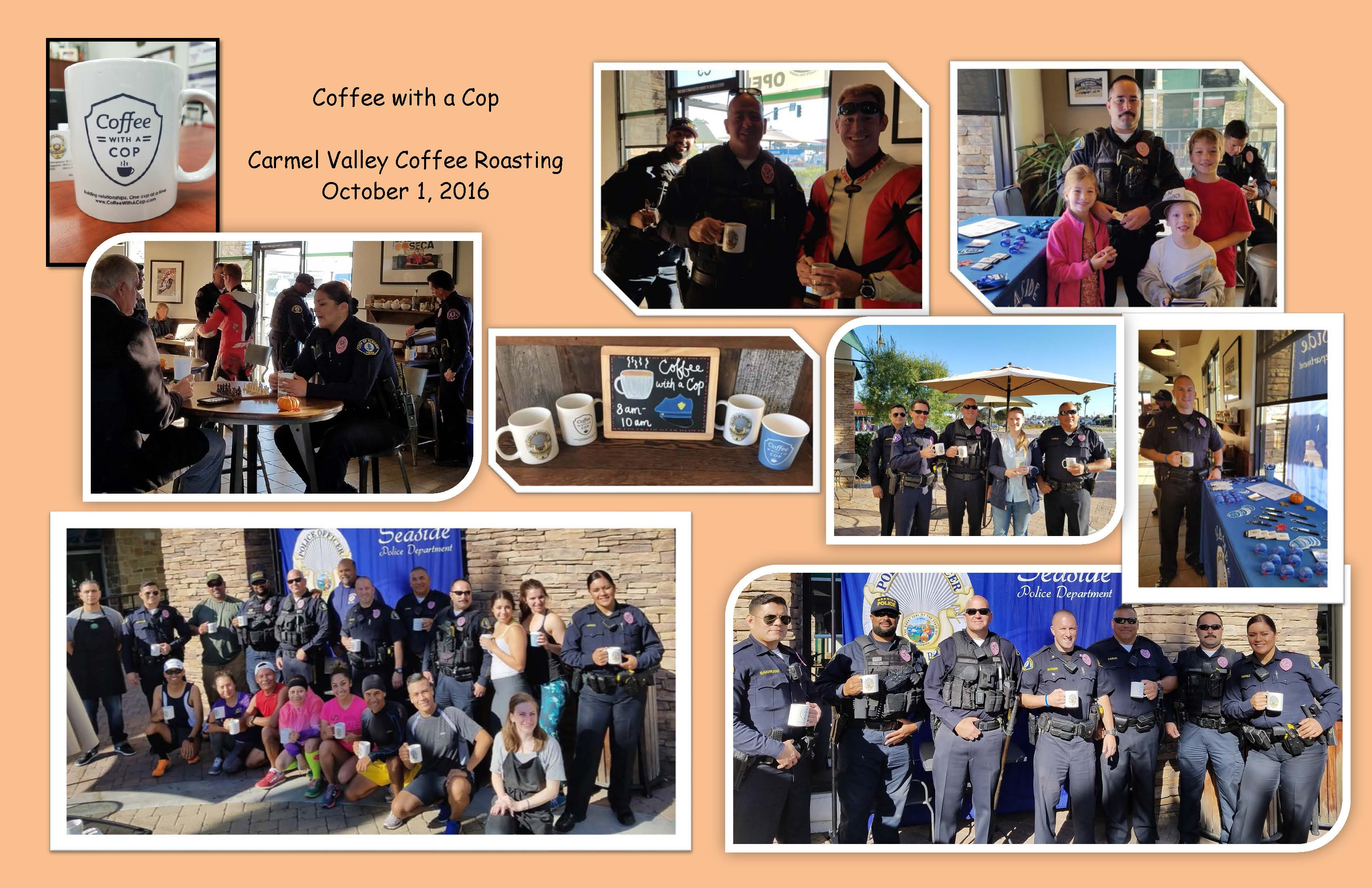Scrapbook page-Coffee with a Cop