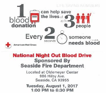 National Night Out Blood Drive Poster