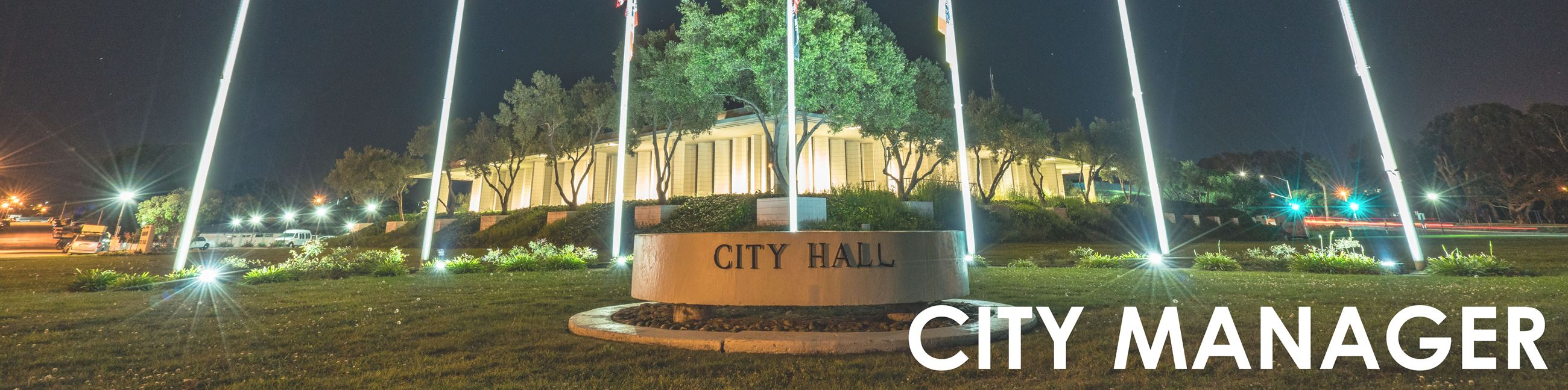 """City Manager"" image of City Hall"