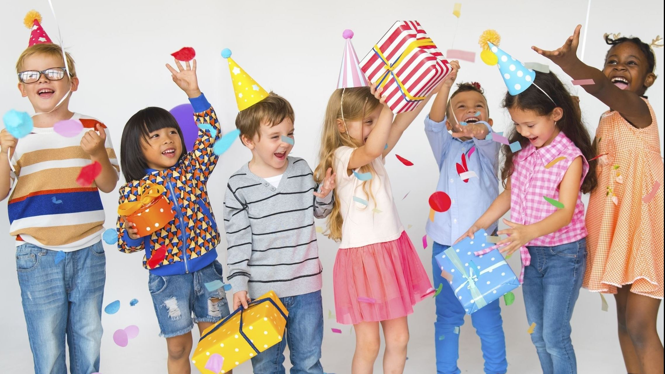 Children at Birthday Party and Celebration