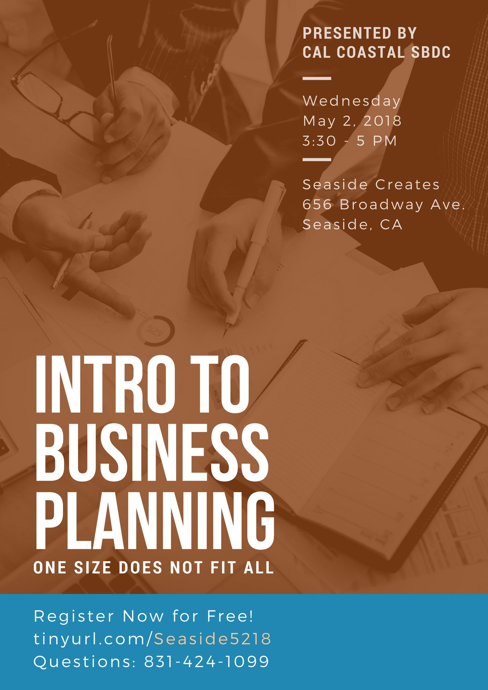 """Intro to Business Planning"" flyer"
