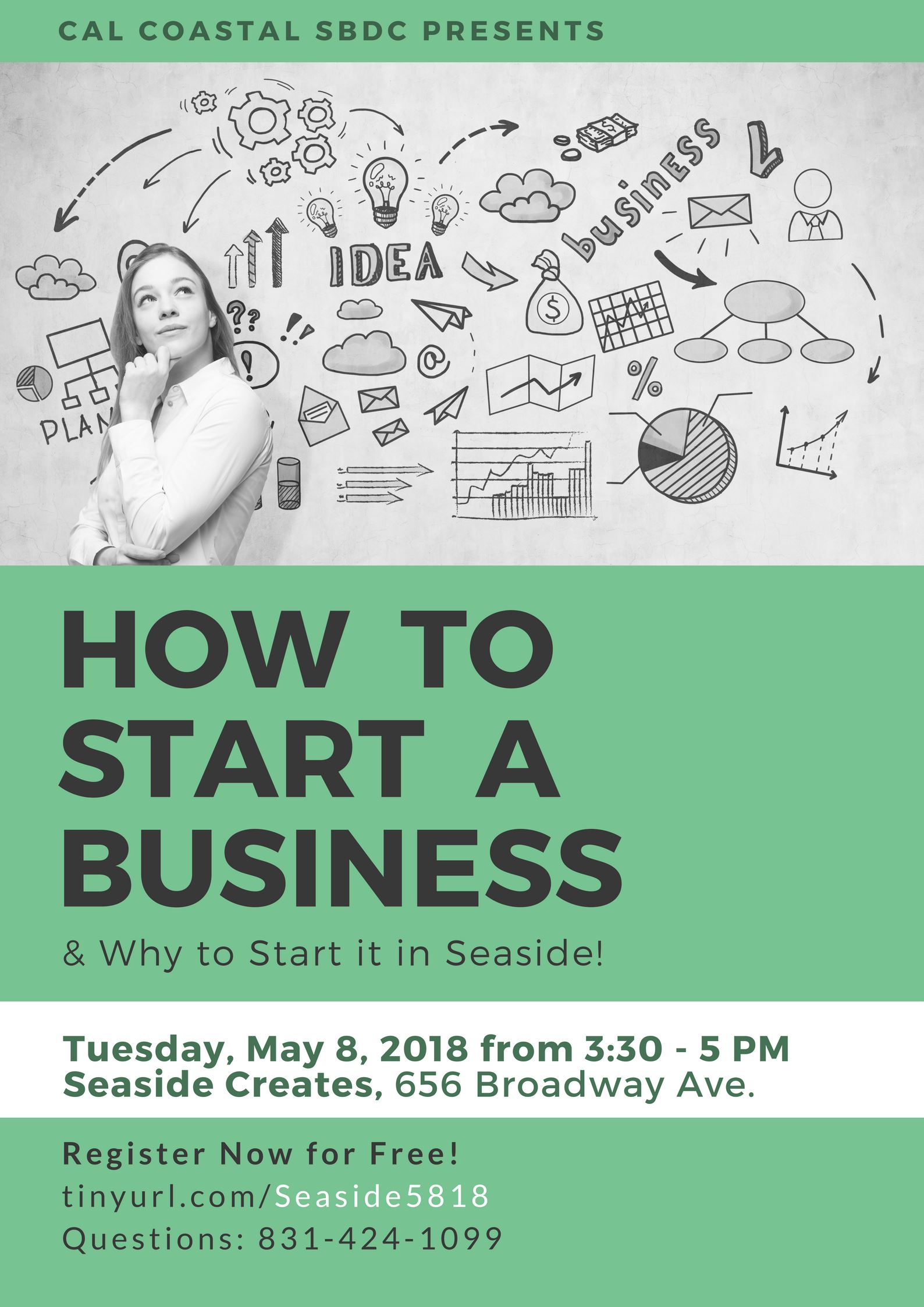 """How to Start a Business"" flyer"