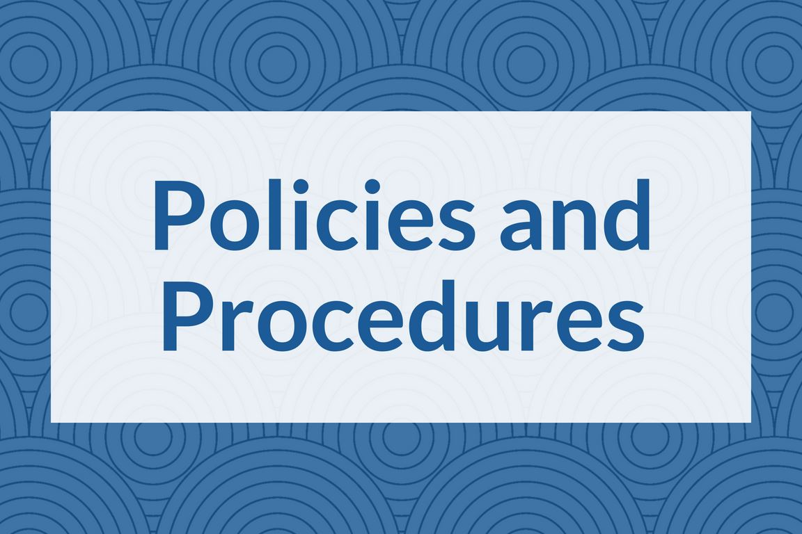 """Policies and Procedures"" graphic icon"
