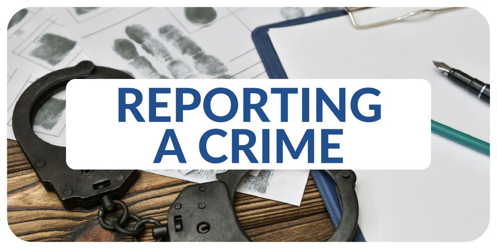 """Reporting a Crime"" banner"