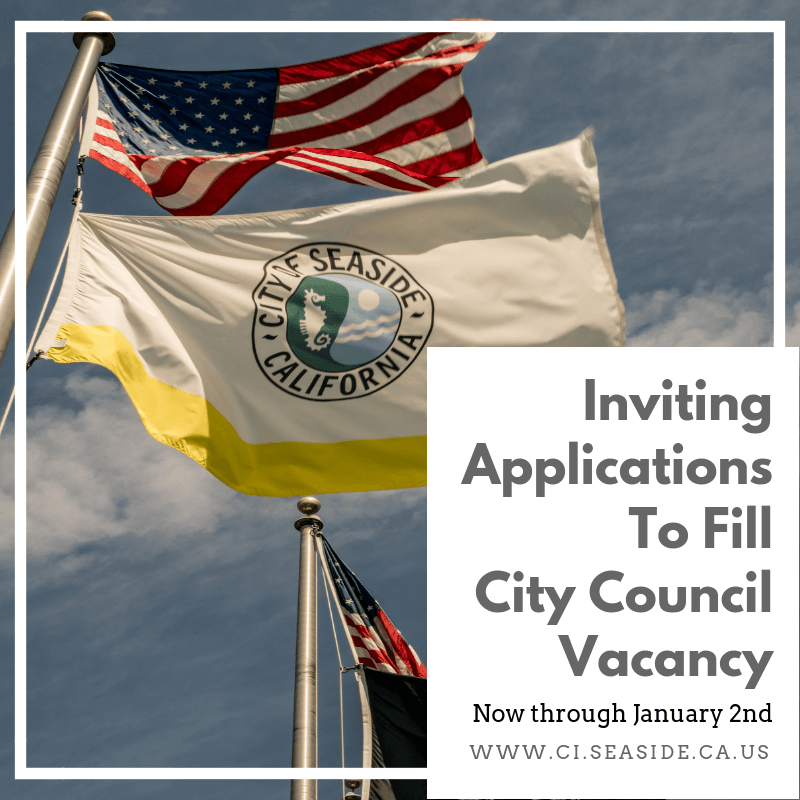 Accepting applications for city council FB