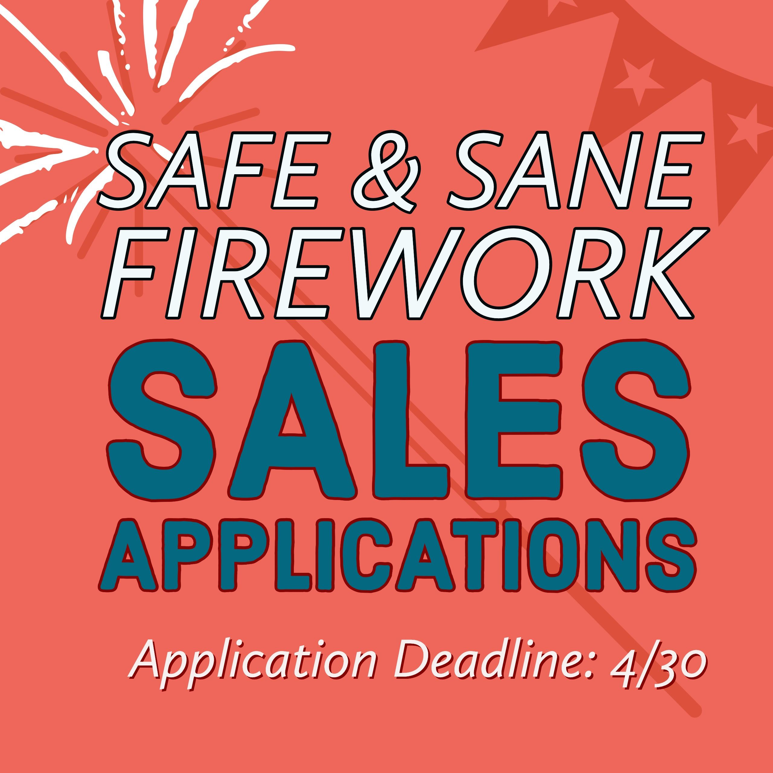 Fireworks Sales Booth Application Flyer