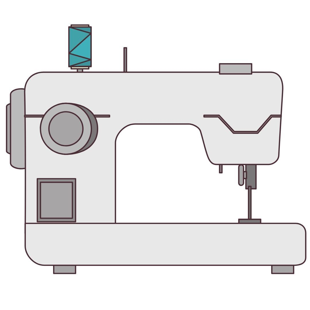 Illustration of a sewing machine