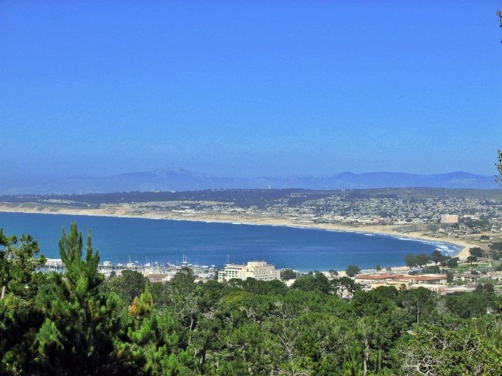 Aerial view of Monterey Bay