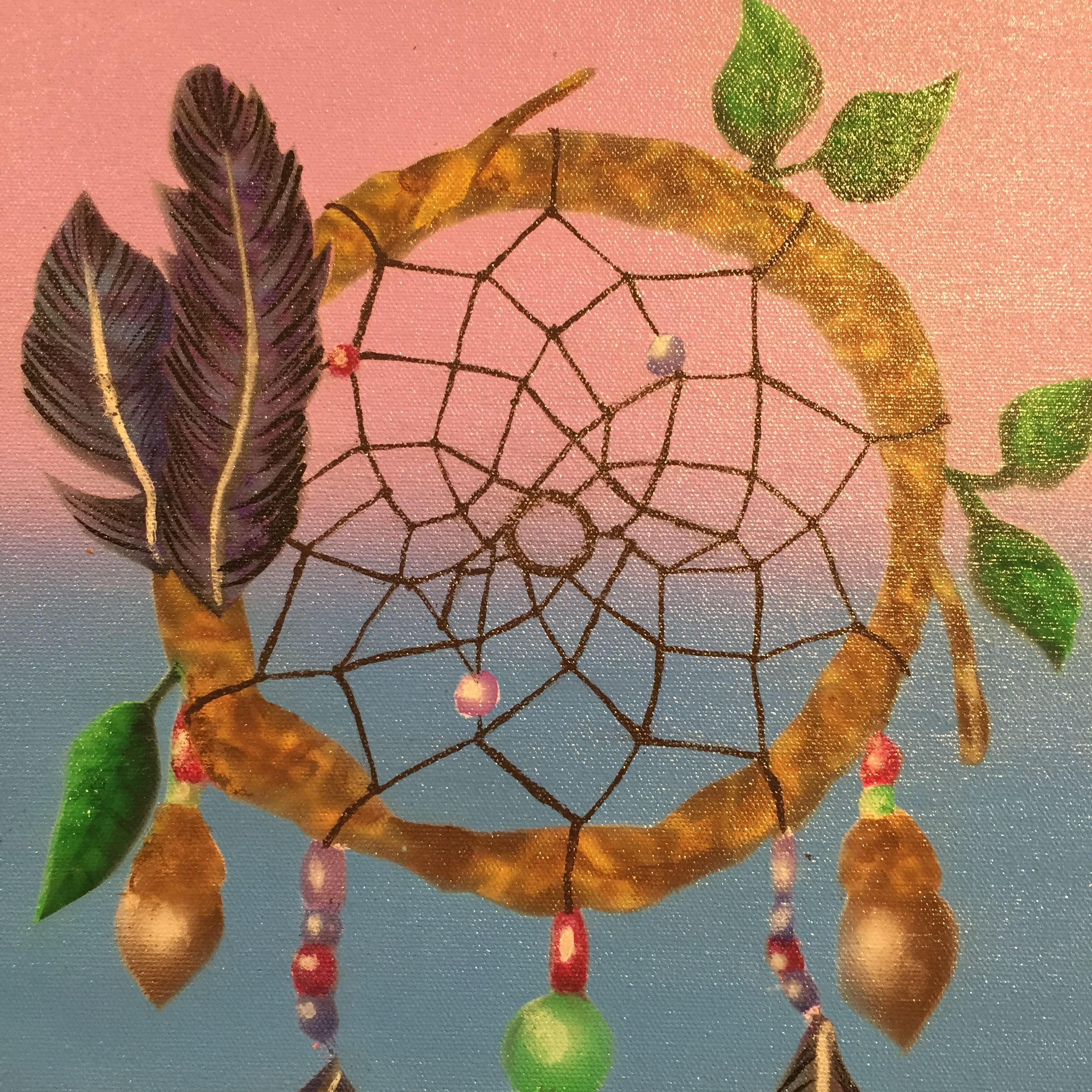 Painting of a dream catcher