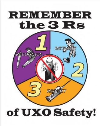 3Rs UXO Safety Tips!