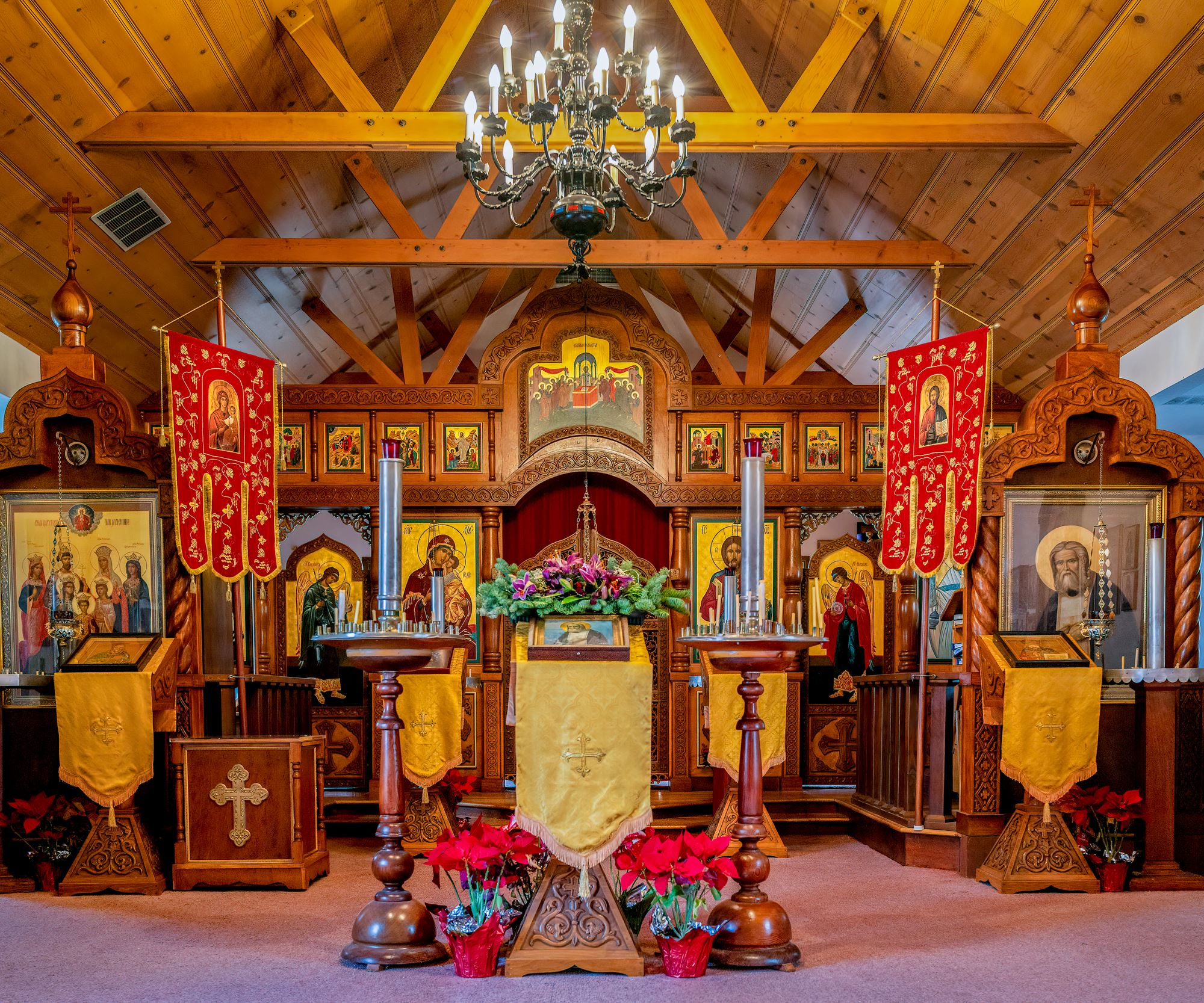 Inside Saint Seraphims Russian Orthodox Church