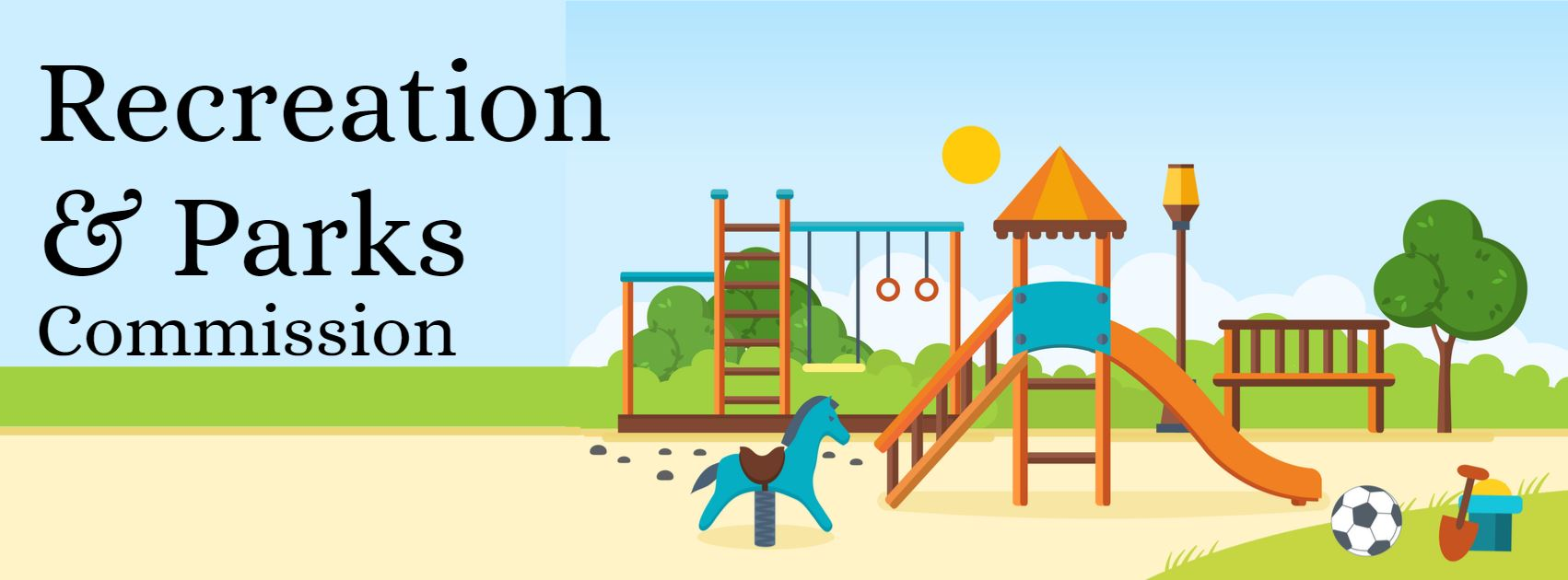 Recreation and Parks graphic of playground
