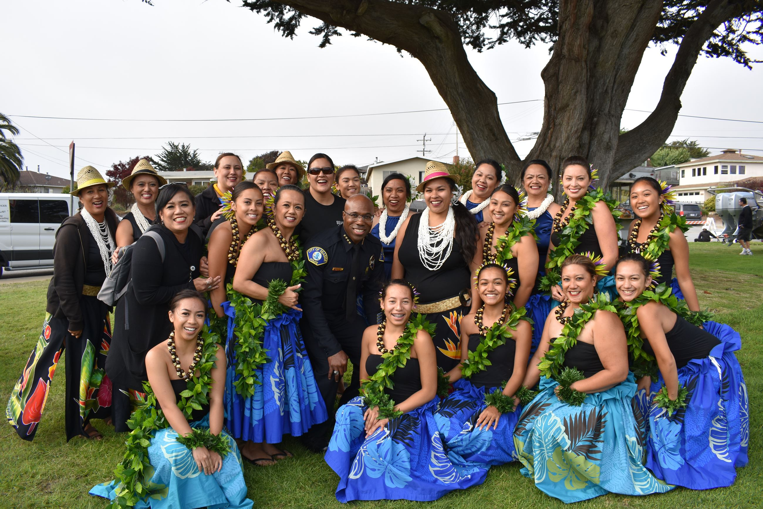 Hula dancers at National Night Out event