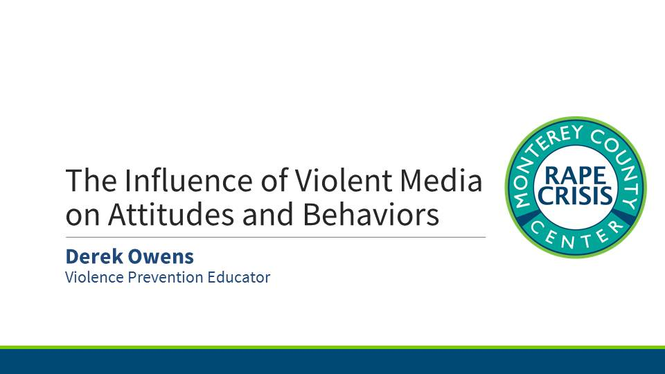 Presentation for Influence of Violent Media Opens in new window