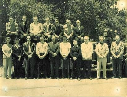 First Seaside Fire Fighters, With Future Fire Chief Pacchetti in Front Row, Fourth From the Left