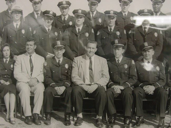 Historical photo of group of officers in the 1950's