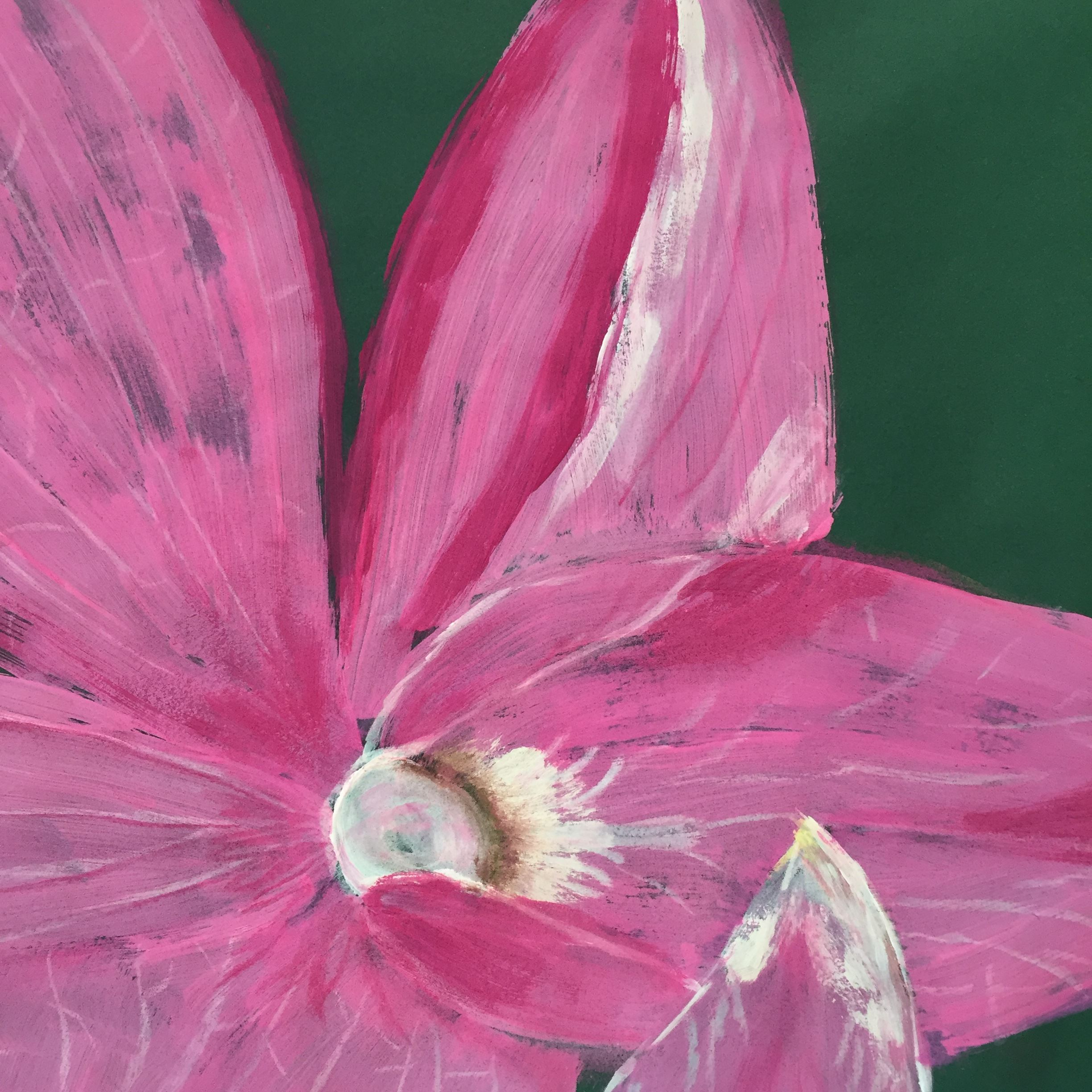 Painting of pink flower