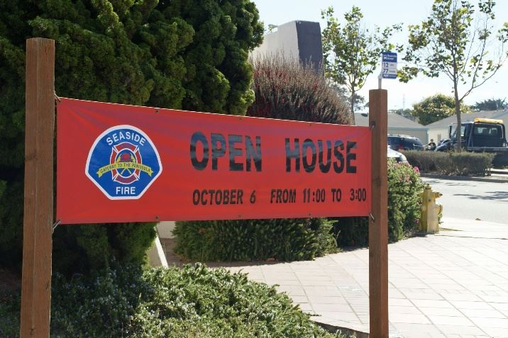 Open House banner in front of Fire Station
